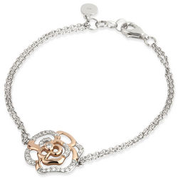 Sterling Silver Irish Rose Two Tone Bracelet