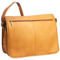 Cafe Leather Three Compartment Messenger Bag