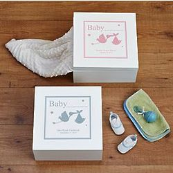 Personalized Baby Keepsake Box