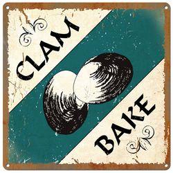 Vintage Clam Bake Metal Sign
