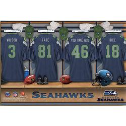 NFL Seattle Seahawks 12x18 Personalized Locker Room Canvas Print