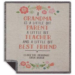 Grandma's Personalized Parent, Teacher, Best Friend Throw Blanket