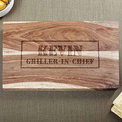 Branded BBQ Exotic Hardwood Custom 10x15 Cutting Board