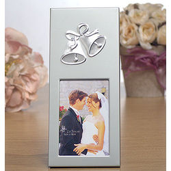 Silver Frame with Wedding Bells Wedding Favors