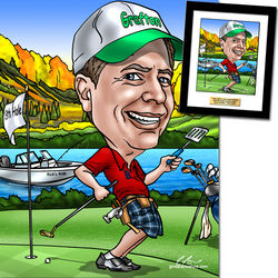 Personalized Golf Caricature