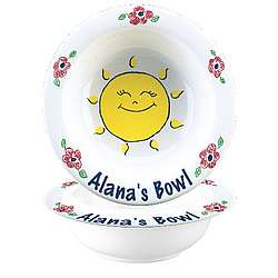 Personalized Kid's SunshineCereal Bowl