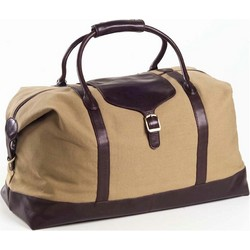 Canvas Duffle with Leather Trim