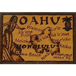 Oahu Leather Photo Album in Natural