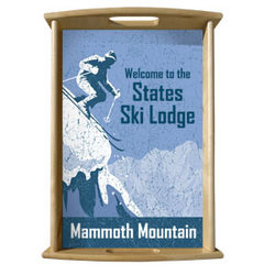 Personalized Serving Tray - Ski Lodge