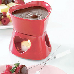 Heart-Shaped Fondue for Two