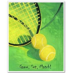 Personalized Time for Tennis II Fine Art Print