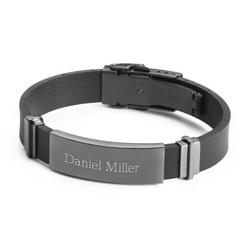 Gunmetal Rubber ID Bracelet