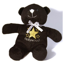Black Hollywood Star Teddy Bear