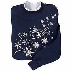 Windswept Snowflake Sweatshirt