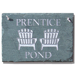 Personalized Adirondack Chairs Slate Sign