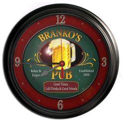 """Personalized 16"""" Beer Mug Bar Clock"""