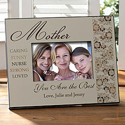 Words for Mom Personalized Mother's Day Picture Frame