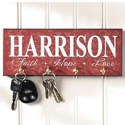Personalized Faith, Hope, Love, Key Holder