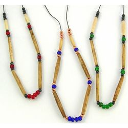 Native American White Heart Trade Bead Necklace