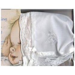 Embroidered Shamrock Bonnet Hankie