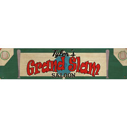 Personalized Grand Slam Saloon Metal Wall Sign