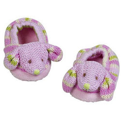 Cuddly Knit Bunny Booties