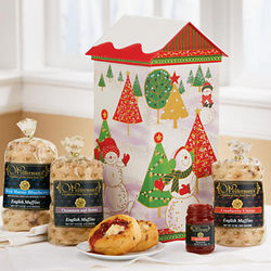 Ho-Ho-Holiday House Muffin Gift Box