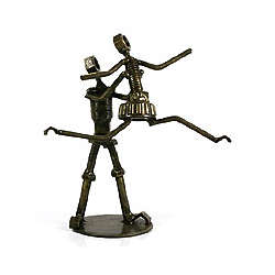 Ballet Dancers Iron Sculpture