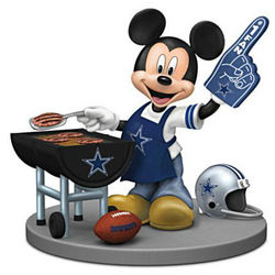 Mickey Mouse Dallas Cowboys Tailgating Figurine