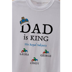 Personalized Dad is King T-Shirt