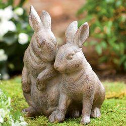 Snuggle Bunnies Garden Statue