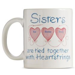 Personalized Sisters Heartstrings Mug
