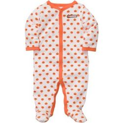 Pumpkin Snap-Up Footies Sleeper