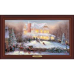 Victorian Christmas Fiber Optic Wall Art