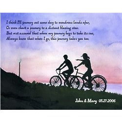 Bicycle Outing Personalized Print