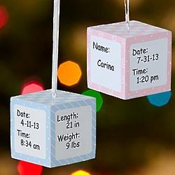 Personalized Baby Block Ornament
