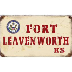 Fort Leavenworth Kansas Metal Sign