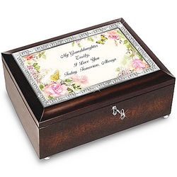 Personalized Granddaughter I Love You Always Music Box