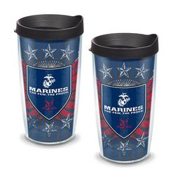 2 Marine Corps 16 Oz. Tervis Tumblers with Lids