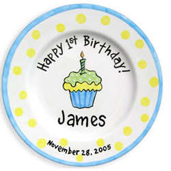 First Birthday Personalized Plate