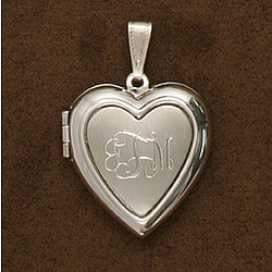 Personalized Pewter Heart Locket