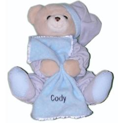 Personalized Blue Musical Teddy Bear