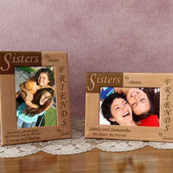 Personalized Sisters and Friends Wooden Picture Frame