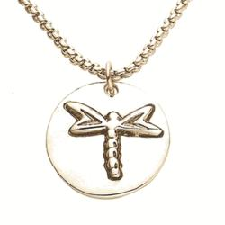 Sometimes We Have to Jump Dragonfly Token Necklace