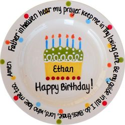 Personalized Birthday Prayer Plate