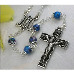 Glass Bead Ave Maria Rosary