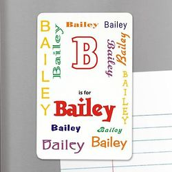 Personalized Name Locker Magnet