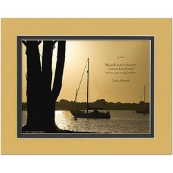 Personalized Brother Poem on Boats Photo