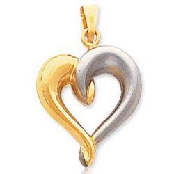 14k Yellow Gold Gentle Hug Open Heart Pendant