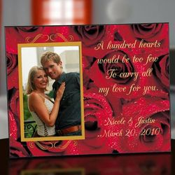 Red Roses Personalized Photo Frame